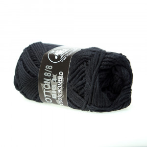 Mayflower Cotton 8/8 Big Garn Unicolor 643 Sort
