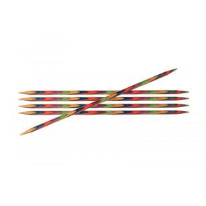 KnitPro Symfonie Strømpepinde Birk 15cm 2,25mm / 5.9in US1