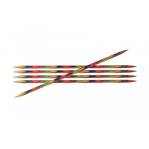 KnitPro Symfonie Strømpepinde Birk 20cm 4,50mm / 7.9in US7