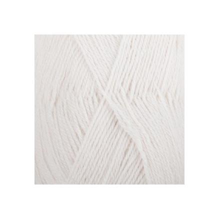 Image of   Drops Alpaca Garn Unicolor 101 Hvid