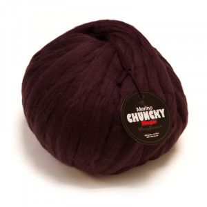 Mayflower Mayflower mega chunky kæmpe garn unicolor 1008 aubergine på rito.dk