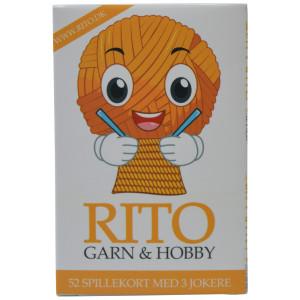 Rito Spillekort 9x6 cm 52 kort + 3 jokere
