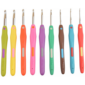Infinity Hearts Rainbow 2 Hæklenålesæt 13,5cm 2-6mm 9 størrelser