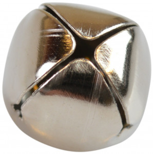 Bjælde / Rasleklokke 15 mm Sølv - 1 stk