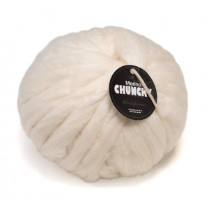 Mayflower Chunky Kæmpe Garn Unicolor 401 Råhvid/Natur