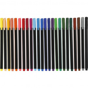 Colortime Fineliner Tuscher/Tusser Ass. farver - 24 stk