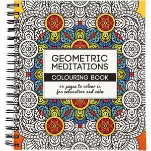 Mindfulness Malebog Geometrisk 19,5x23 cm - 64 sider