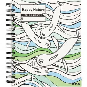 Mindfulness Malebog Glad Design 18,5x23 cm - 30 sider