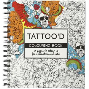 Mindfulness Malebog Tattood 19,5x23 cm - 64 sider