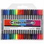 Colortime Dobbelttuscher/Tusser Ass. farver 2,3-3,6 mm. - 20 stk