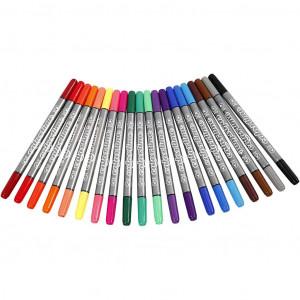 Colortime Dobbelttuscher/Tusser Ass. farver - 20 stk