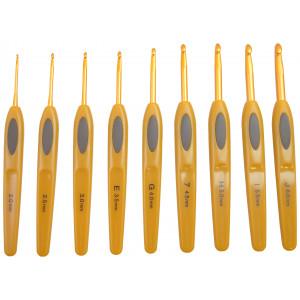 Clover Soft Touch Hæklenålesæt Plastik 13,5cm 2-6mm 9 størrelser