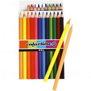 Colortime Jumbo Farveblyanter Ass. farver - 12 stk
