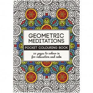 Mindfulness Malebog Geometrisk 10,5x14,5 cm - 20 sider