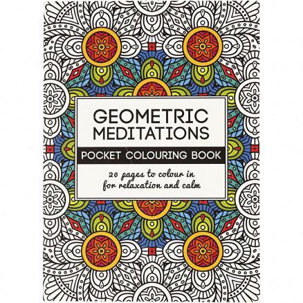 Image of   Mindfulness Malebog Geometrisk 10,5x14,5 cm - 20 sider