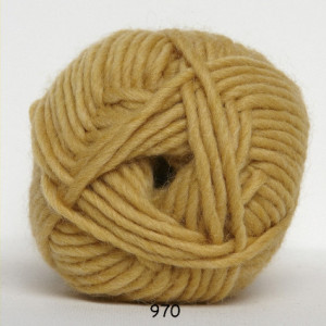 Hjertegarn natur uld garn unicolor 970 støvet gul fra Hjertegarn på rito.dk