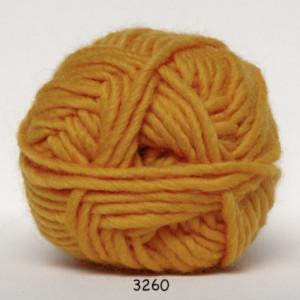 Hjertegarn – Hjertegarn natur uld garn unicolor 3260 mørk gul på rito.dk