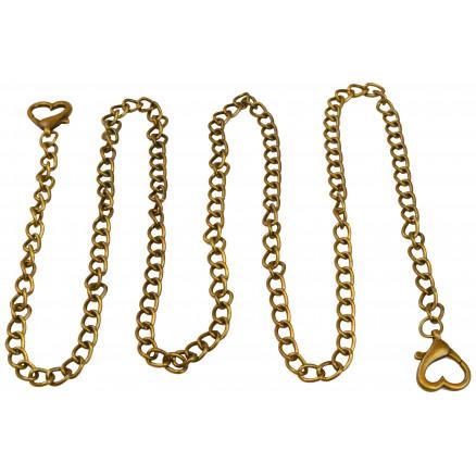 Image of   Infinity Hearts Taskehank / Kæde Bronze 120cm - 1 stk