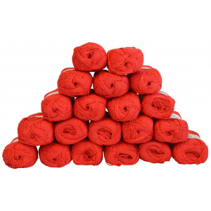 Infinity Hearts Rose 8/4 Garnpakke Unicolor 19 Rød - 20 stk