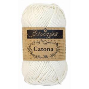 Scheepjes Catona Garn Unicolor 105 Bridal White