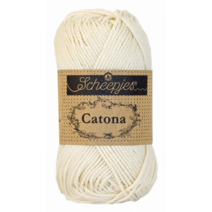 Image of   Scheepjes Catona Garn Unicolor 130 Old Lace