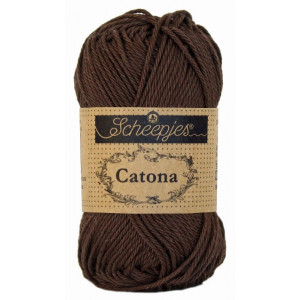 Image of   Scheepjes Catona Garn Unicolor 162 Black Coffee