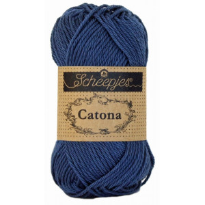 Image of   Scheepjes Catona Garn Unicolor 164 Light Navy