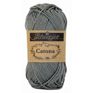 Scheepjes Catona Garn Unicolor 242 Metal Grey