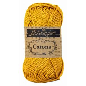 Scheepjes Catona Garn Unicolor 249 Saffron
