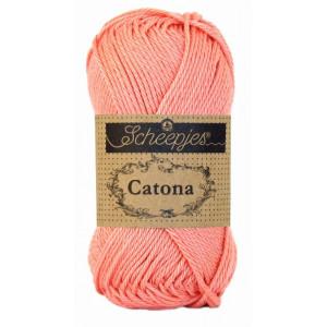 Scheepjes Catona Garn Unicolor 264 Light Coral