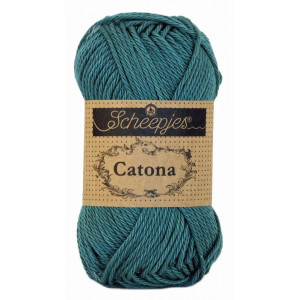 Image of   Scheepjes Catona Garn Unicolor 391 Deep Ocean Green