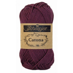 Image of   Scheepjes Catona Garn Unicolor 394 Shadow Purple