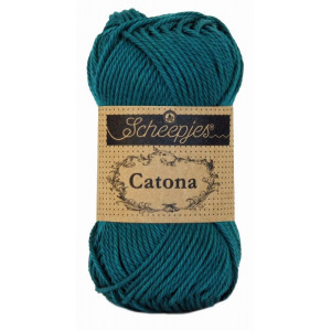 Scheepjes Catona Garn Unicolor 401 Dark Teal