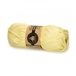 Mayflower Cotton 8/4 Organic Økologisk Garn 04 Lys Gul