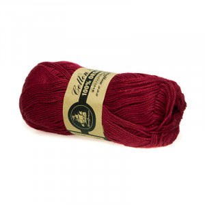 Mayflower Cotton 8/4 Organic Økologisk Garn 06 Mørk Rød