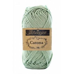 Image of   Scheepjes Catona Garn Unicolor 402 Silver Green
