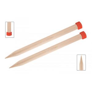 KnitPro Jumbo Birch Strikkepinde / Jumperpinde Birk 30cm 30,00mm / 11.