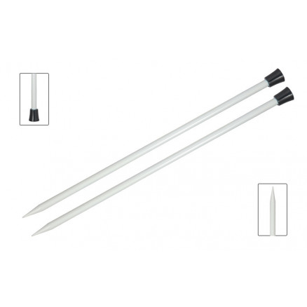 Image of   KnitPro Basix Aluminium Strikkepinde / Jumperpinde Aluminium 25cm 2,50