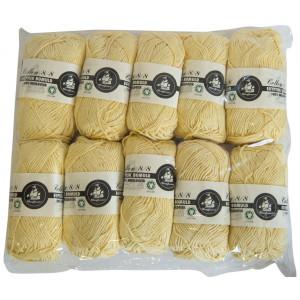 Mayflower Cotton 8/8 Økologisk Garn 2. sortering Unicolor 604 Gul - 10 stk
