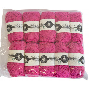 Mayflower Cotton 8/8 Økologisk Garn 2. sortering Unicolor 610 Pink - 10 stk