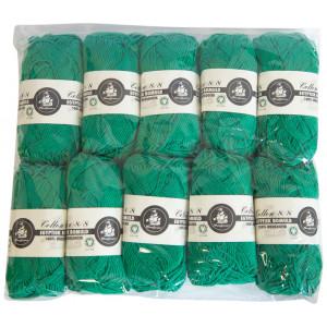 Mayflower Cotton 8/8 Økologisk Garn 2. sortering Unicolor 627 Grøn - 10 stk