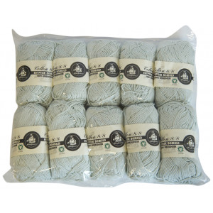 Mayflower Cotton 8/8 Økologisk Garn 2. sortering Unicolor 686 Mintgrøn - 10 stk