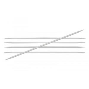 KnitPro Basix Aluminium Strømpepinde Aluminium 15cm 2,50mm / 5.9in US1