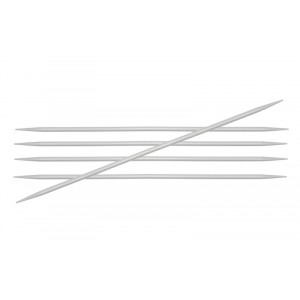 Image of   KnitPro Basix Aluminium Strømpepinde Aluminium 15cm 5,00mm / 5.9in US8