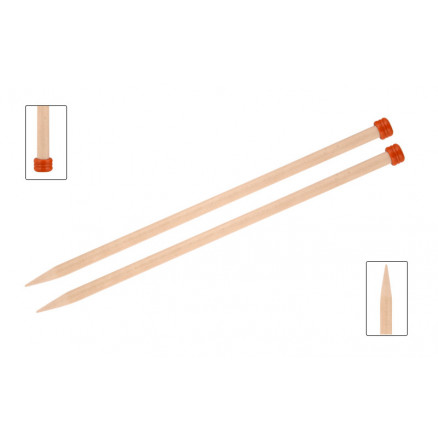 Knitpro Basix Birch Strikkepinde / Jumperpinde Birk 30cm 5,50mm / 11.8