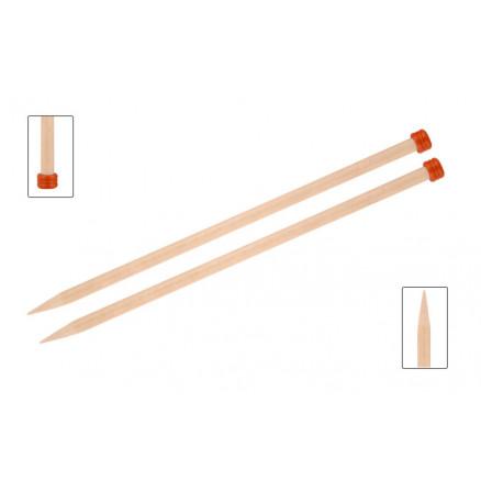 Knitpro Basix Birch Strikkepinde / Jumperpinde Birk 40cm 10,00mm / 15.