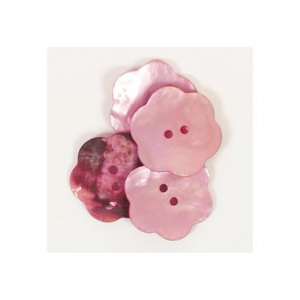 Image of   Drops Knap Blomst Pink 25mm 603 - 1 stk
