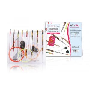 KnitPro Symfonie Hæklenålesæt 8 størrelser 3,50-8,00 mm til Tunesisk hækling / Hakning