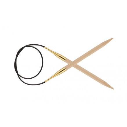 Knitpro Basix Birch Rundpinde Birk 60cm 8,00mm / 23.6in Us11