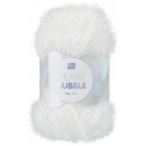 Rico Creative Bubble Garn Unicolor 001 Hvid
